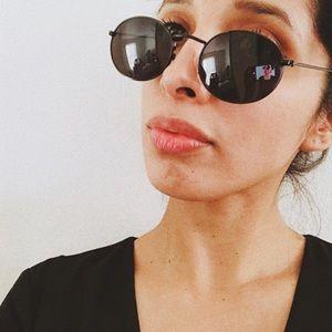 Retro Vintage Oval Frame Sunglasses